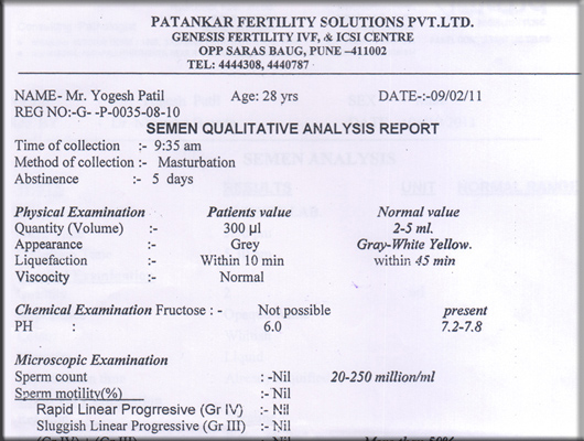 Sanskruti Clinic, India  Infertility, Azoospermia